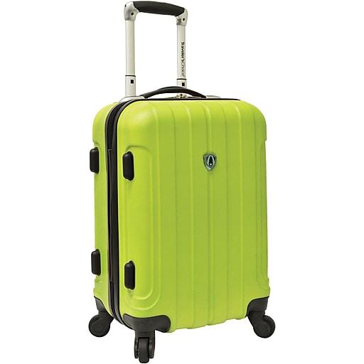 "Traveler's Choice® TC3800 Cambridge 20"" Hardsided Carry-On Spinner Luggage Suitcase, Apple Green"