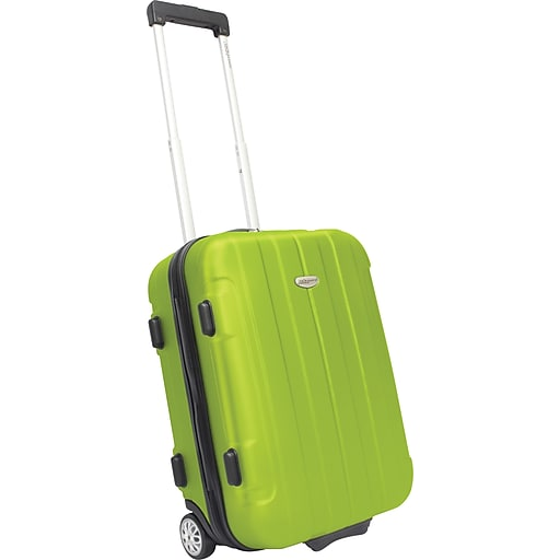 """Traveler's Choice® TC3900 Rome 21"""" Hard-Shell Carry-On Upright Luggage Suitcase, Green"""