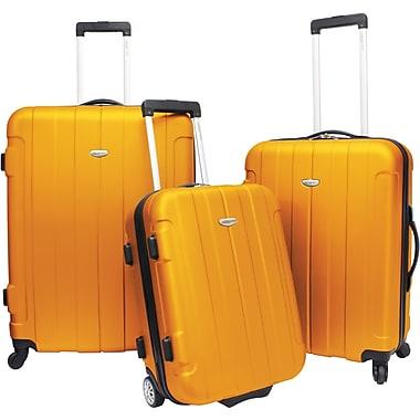 Traveler's Choice® TC3900 Rome 3-Piece Hard-Shell Spin/Rolling Luggage Set, Orange