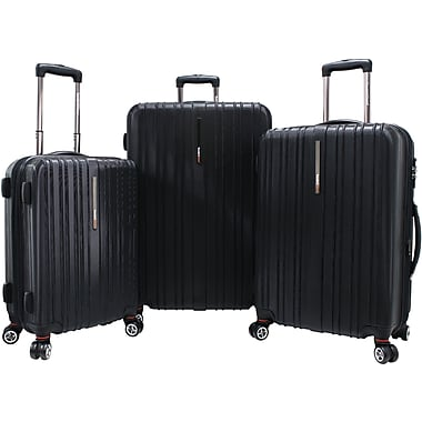 Traveler's Choice® TC5000 Tasmania 3-Piece Expandable Spinner Luggage Set, Black