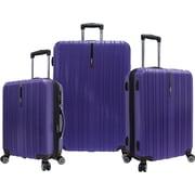 Traveler's Choice® TC5000 Tasmania 3-Piece Expandable Spinner Luggage Set, Purple