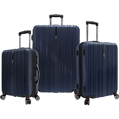 Traveler's Choice® TC5000 Tasmania 3-Piece Expandable Spinner Luggage Set, Navy