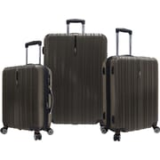 Traveler's Choice® TC5000 Tasmania 3-Piece Expandable Spinner Luggage Set, Dark Brown