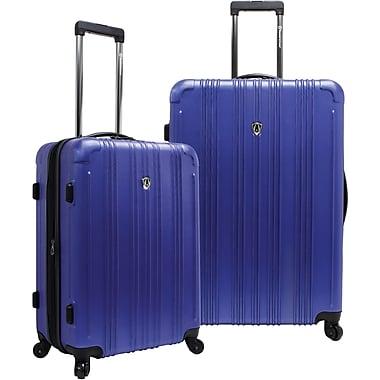 Traveler's Choice® TC5801 New Luxembourg 2-Piece Expandable Hardsided Luggage Set, Blue