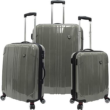 Traveler's Choice® TC8000 Sedona 3-Piece Expandable Spinner Luggage Set, Pewter