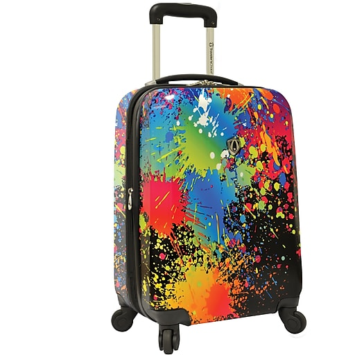 """Traveler's Choice® TC8200 Midway 21"""" Hardside Carry-On Spinner Suitcase, Paint Splatter Print"""