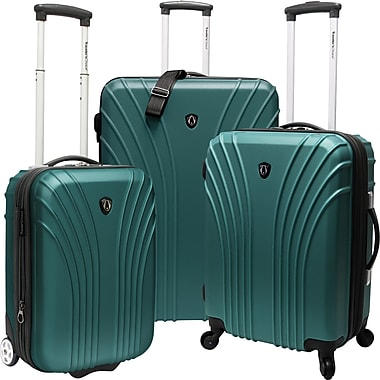 Traveler's Choice® TC8500 Cape Verde 3-Piece Hardsided Ultra Lightweight Luggage Set, Green