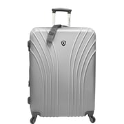 Traveler's Choice® TC8500 Cape Verde Hardsided Lightweight Spinner Luggage Suitcase, Silver