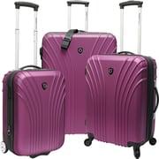 Traveler's Choice® TC8500 Cape Verde 3-Piece Hardsided Ultra Lightweight Luggage Set, Lavender