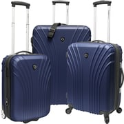 Traveler's Choice® TC8500 Cape Verde 3-Piece Hardsided Ultra Lightweight Luggage Set, Navy