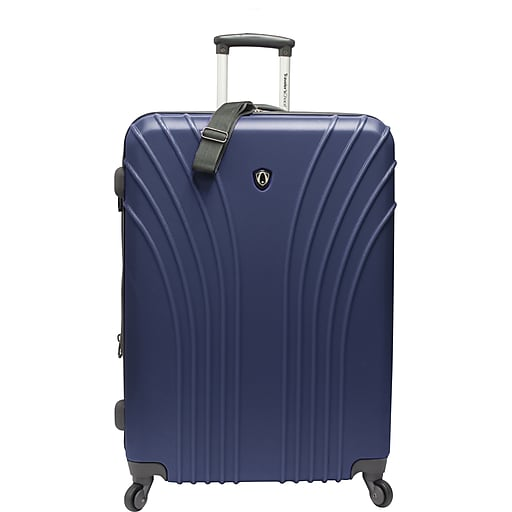 Traveler's Choice® TC8500 Cape Verde Hardsided Lightweight Spinner Luggage Suitcase, Navy