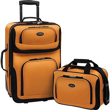 U.S.® Traveler US5600 Rio 2-Piece Expandable Carry-On Luggage Set, Mustard