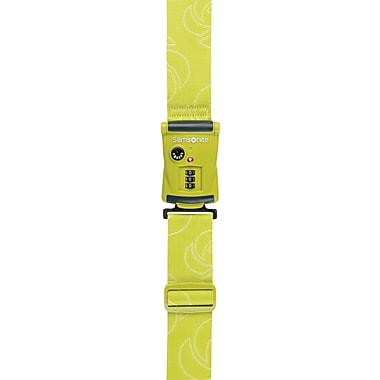 Samsonite Travel Sentry 3-Dial Combo Luggage Strap,Neon Green