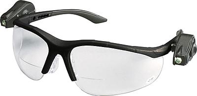 3M Light Vision 2 Eyewear, Clear Anti-Fog Lens, Gray Frame, Lights