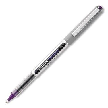 Uni-Ball – Stylo à bille roulante Vision, pointe fine, encre violet majestueux