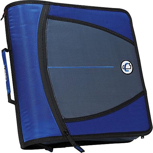 Case-it 3-Inch Round 3-Ring Zipper Binder, Blue (D-146
