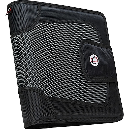 """Case-it """"The Open Tab"""" 2-Inch Round 3-Ring Binder, Black"""
