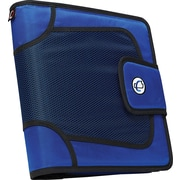 "Case•it S-816 2"" Blue Binder with Built-in Expandable File"