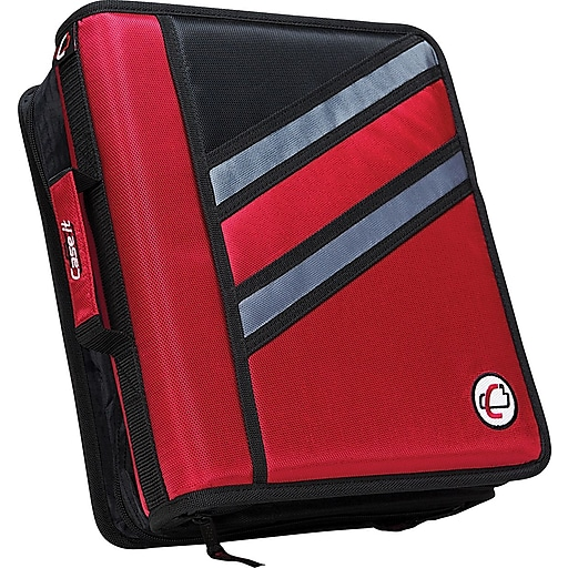 "Shop Staples For Case•it Z-176 1 1/2"" 2-in-1 Zipper Binder"
