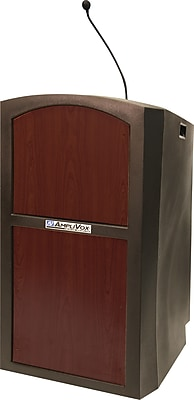 AmpliVox Sound Systems Pinnacle Sound Lectern, Mahogany (SW3250-MH)