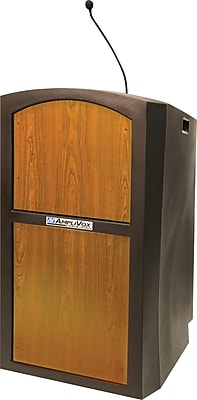 AmpliVox Sound Systems Pinnacle Sound Lectern, Oak (SW3250-MO)
