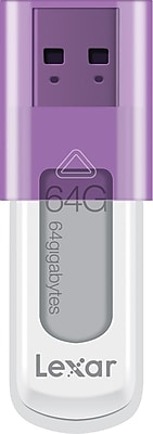 Lexar JumpDrive LJDS50-64GABNL 64GB USB 2.0 Flash Drive, Purple