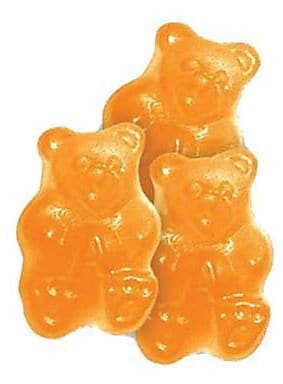 Ornery Orange Gummi Bears, 5 lb. Bulk