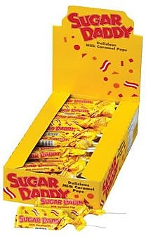 Sugar Daddy Pops Small; 0.47 oz., 48 Pops/Box
