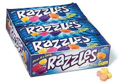 Razzles, 1.4 oz. Bag, 24 Bags/Box