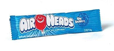 Airheads Blue Raspberry Bar, 0.55 oz. Bar, 36 Bars/Box