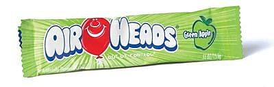 Airheads Green Apple, 0.55 oz. Bar, 36 Bars/Box (209-00077)
