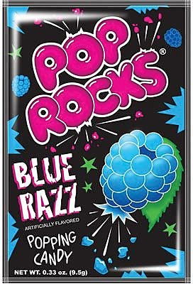 Pop Rocks Blue Raspberry; 0.66 oz. Packs, 24 Packs/Box