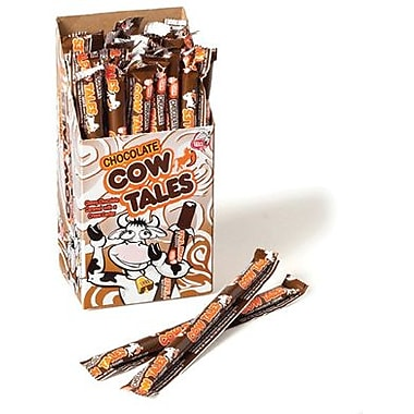 Chocolate Cow Tales Wrapped, 1 oz. sticks, 36 Cow Tales/Box