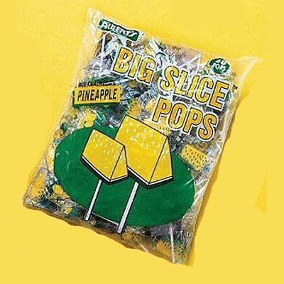 Big Slice Pineapple Pops; 48 Lollipops/Bag