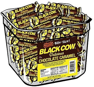 Black Cow Bites, 216 Pieces/Tub
