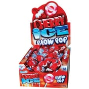 Cherry Ice Blow Pops; 48 Lollipops/Box