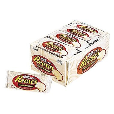 REESE'S White Peanut Butter Cups, 1.5 oz, 24 Count