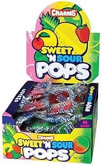 Charms Sweet & Sour Pops; 48 Lollipops/Box