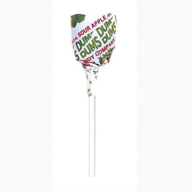 Dum Dum Sour Apple Lollipops, 1 lb. Tub