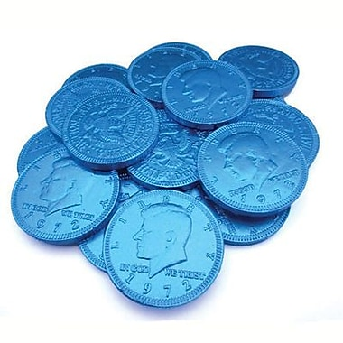 Fort Knox Milk Chocolate Coins, Blue Foil, 1 lb. Bulk
