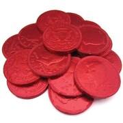 Fort Knox Milk Chocolate Coins, Red Foil, 1 lb. Bulk