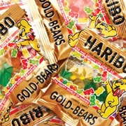 Haribo Gold Gummi Bears, 0.5 oz. Mini Bags, 72 Mini Bags/Tub