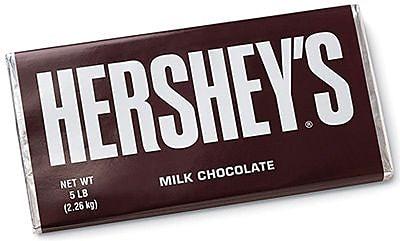 HERSHEY'S Milk Chocolate Bar, 5 lbs