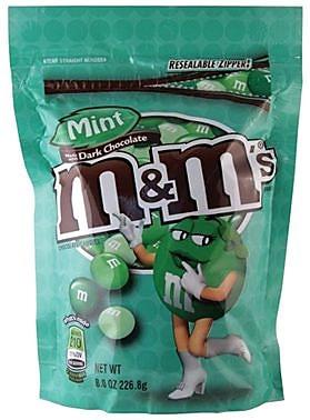 M&M's Dark Chocolate Mint, 8 oz. Bag