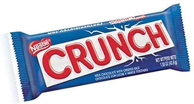 Nestle Crunch Bar, 1.55 oz. Bars, 36 Bars/Box