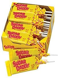 Sugar Daddy Pops Large; 1.7 oz., 24 Pops/Box