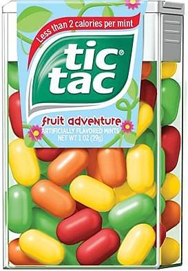 Tic Tac® Mints, Fruit Adventure, 12 Packs/Box