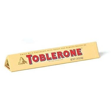 Toblerone Chocolate Bar, 1.76 oz. Bars, 20 Bars/Box