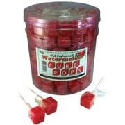 Watermelon Cube Pops, .8 oz., 100 Lollipops/Tub