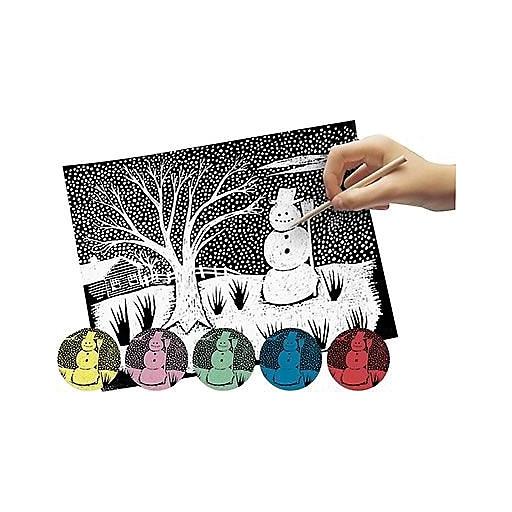 "Scratch Art® 11"" x 8 1/2"" Craft Paper, Solid Colors, 12/Pack"